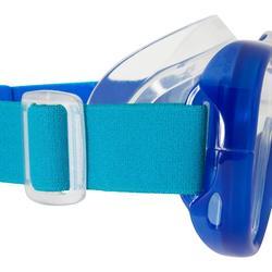 成人款自由潛水呼吸管面鏡組FRD120-藍色/淺碧藍色