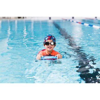 Schwimmbrillen-Gestell Selfit Grösse S grau/gelb