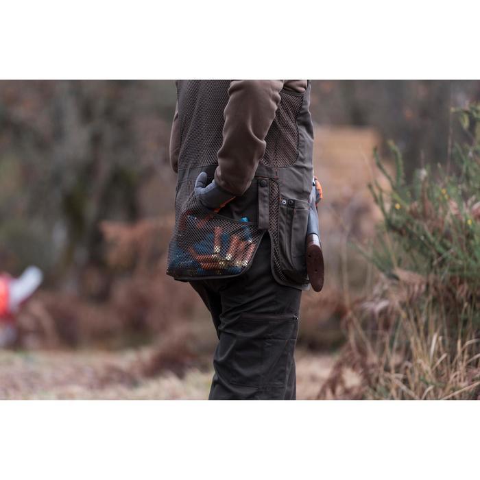 Jagdweste Ball Trap 500 Wurfscheibenschießen braun