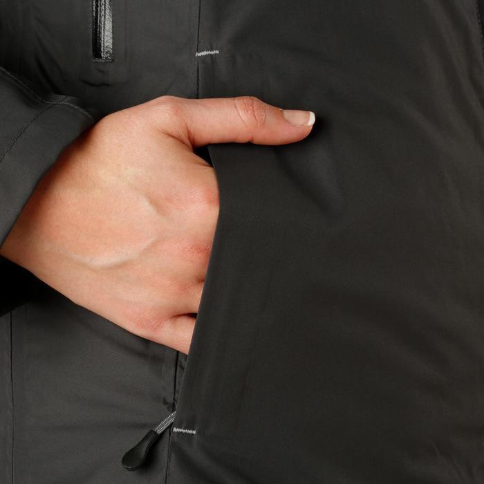 Veste chaude et imperméable femme équitation TOSCA 2 gris foncé/chevron - 1163792