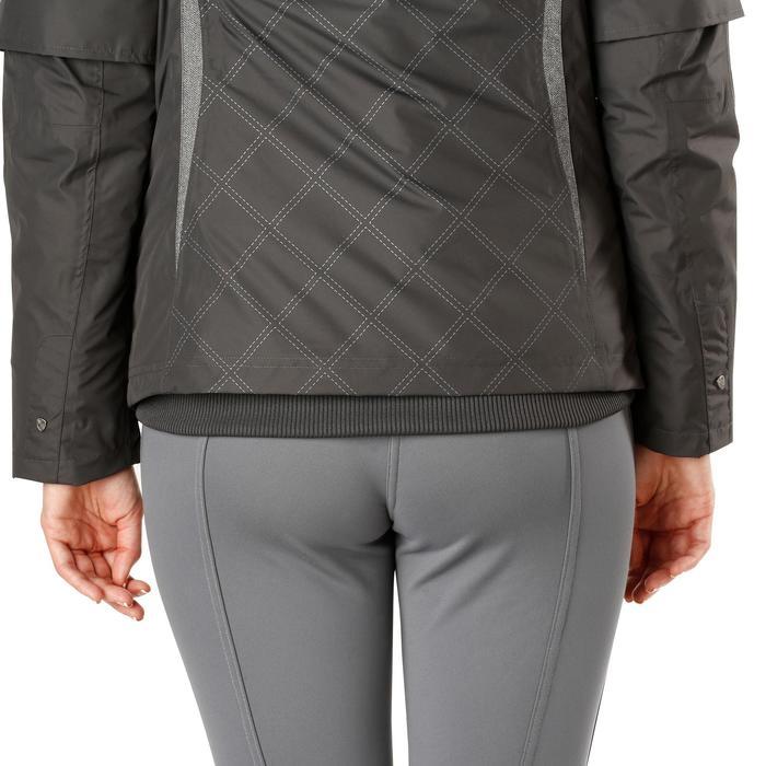 Veste chaude et imperméable femme équitation TOSCA 2 gris foncé/chevron - 1163795