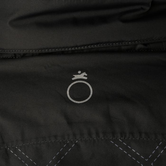 Veste chaude et imperméable femme équitation TOSCA 2 gris foncé/chevron - 1163797