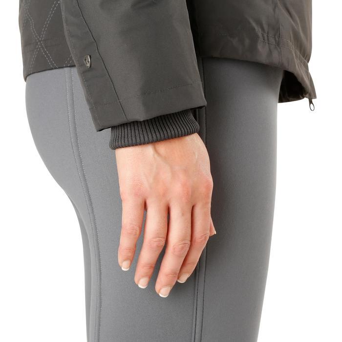 Veste chaude et imperméable femme équitation TOSCA 2 gris foncé/chevron - 1163798
