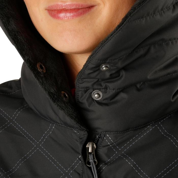 Veste chaude et imperméable femme équitation TOSCA 2 gris foncé/chevron - 1163799