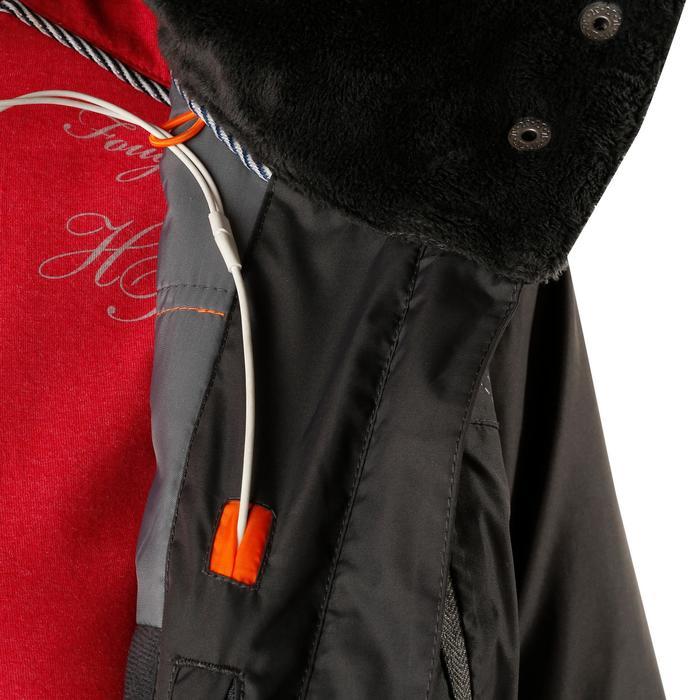 Veste chaude et imperméable femme équitation TOSCA 2 gris foncé/chevron - 1163800