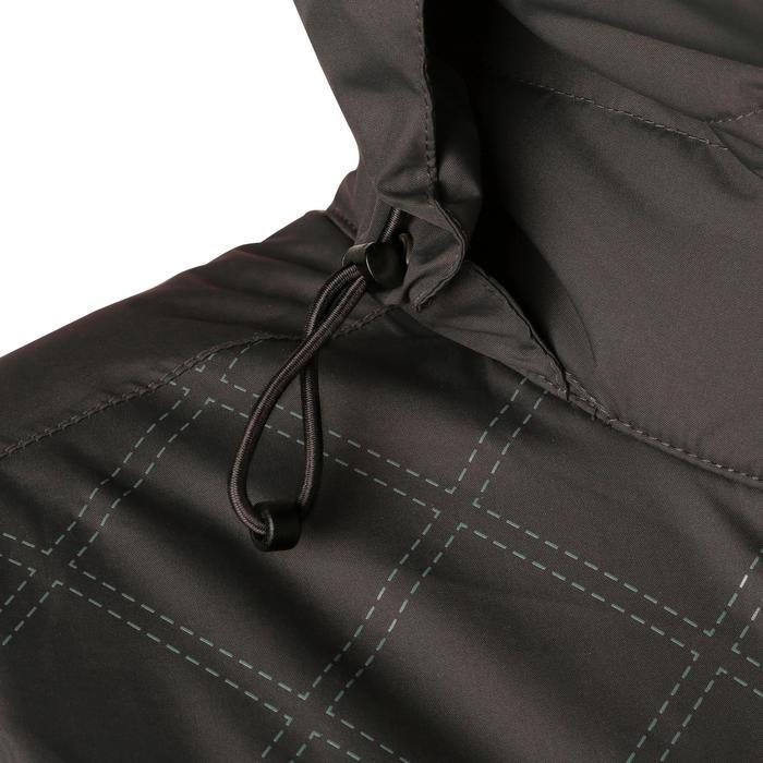 Veste chaude et imperméable femme équitation TOSCA 2 gris foncé/chevron - 1163801