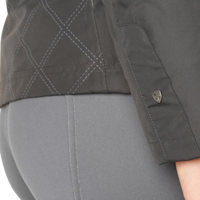 Veste chaude et imperméable femme équitation TOSCA 2 gris foncé/chevron - 1163803