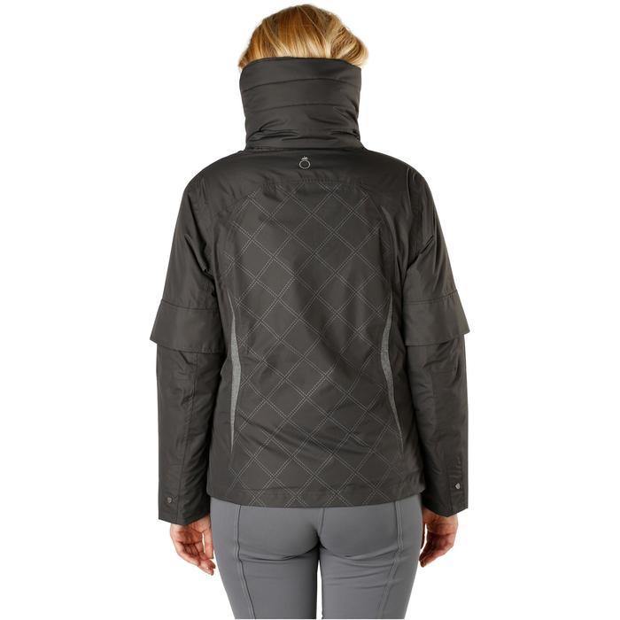 Veste chaude et imperméable femme équitation TOSCA 2 gris foncé/chevron - 1163805
