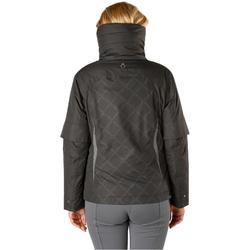 Veste chaude et imperméable équitation femme TOSCA gris foncé/chevron