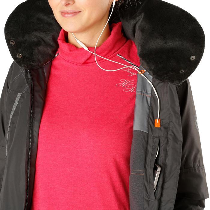 Veste chaude et imperméable femme équitation TOSCA 2 gris foncé/chevron - 1163806