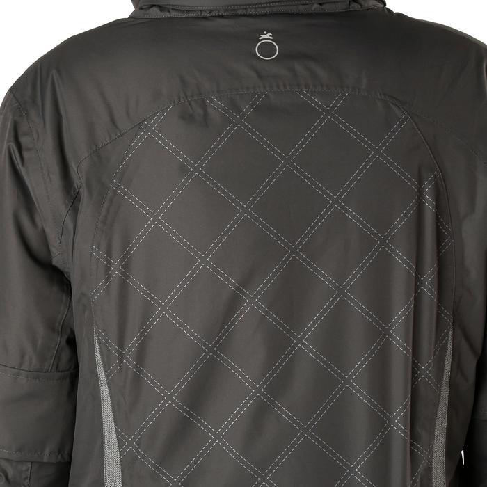 Veste chaude et imperméable femme équitation TOSCA 2 gris foncé/chevron - 1163807