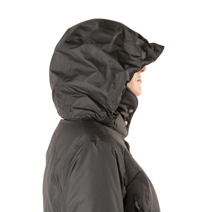 Veste chaude et imperméable femme équitation TOSCA 2 gris foncé/chevron - 1163808