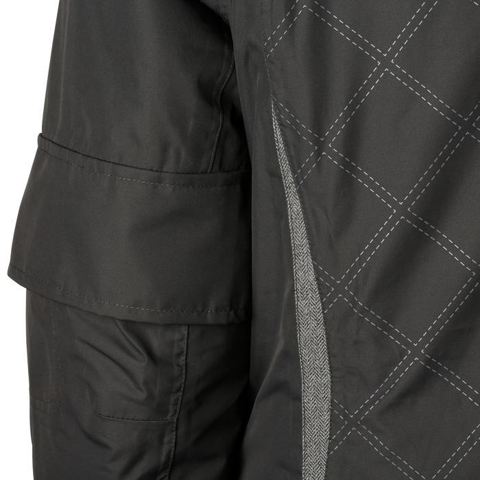 Veste chaude et imperméable femme équitation TOSCA 2 gris foncé/chevron - 1163809
