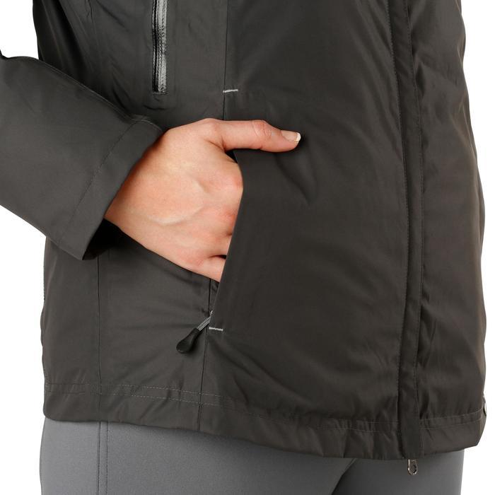 Veste chaude et imperméable femme équitation TOSCA 2 gris foncé/chevron - 1163810