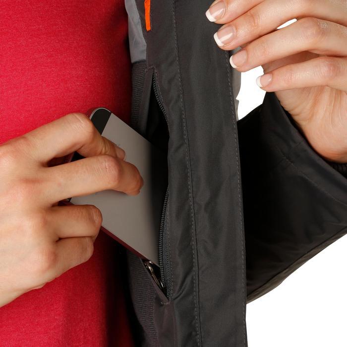 Veste chaude et imperméable femme équitation TOSCA 2 gris foncé/chevron - 1163812