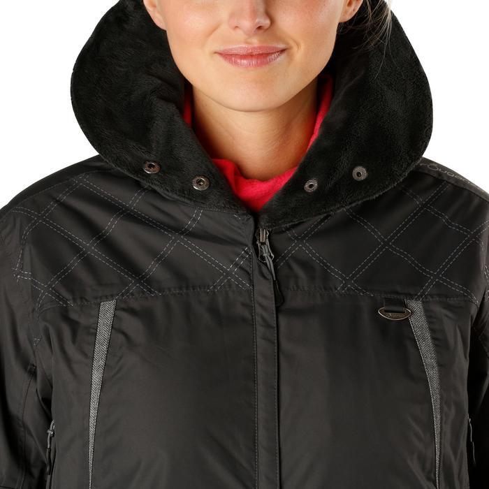 Veste chaude et imperméable femme équitation TOSCA 2 gris foncé/chevron - 1163813