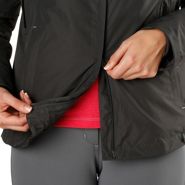Veste chaude et imperméable femme équitation TOSCA 2 gris foncé/chevron - 1163814