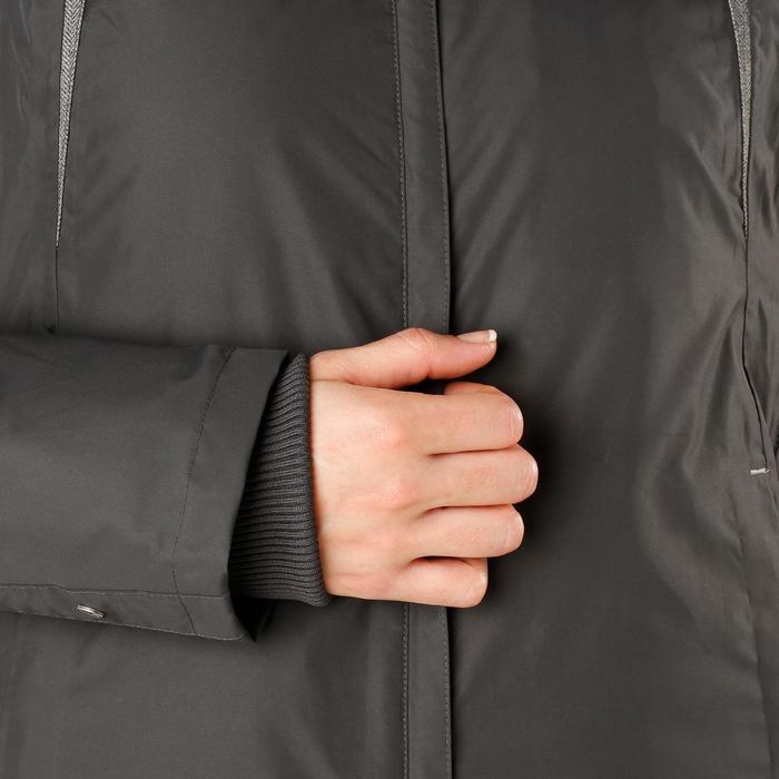 Veste chaude et imperméable femme équitation TOSCA 2 gris foncé/chevron - 1163817
