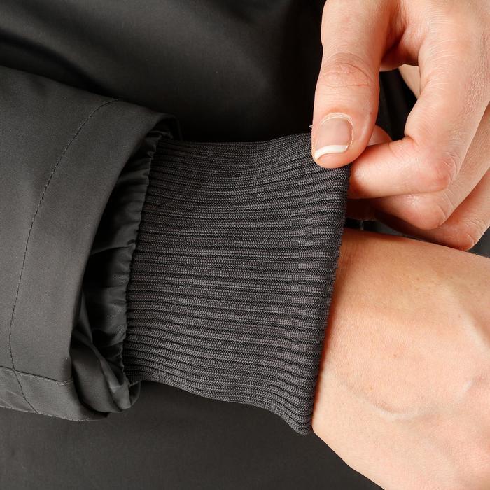 Veste chaude et imperméable femme équitation TOSCA 2 gris foncé/chevron - 1163821
