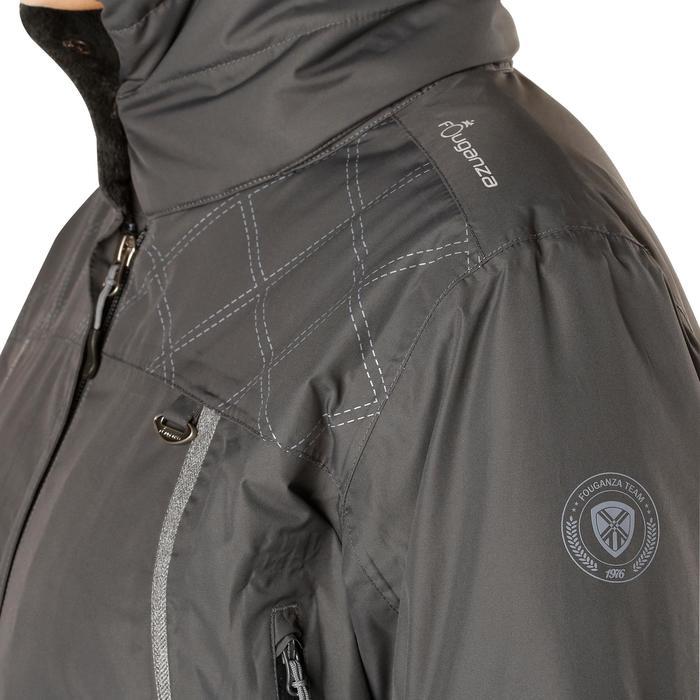 Veste chaude et imperméable femme équitation TOSCA 2 gris foncé/chevron - 1163822