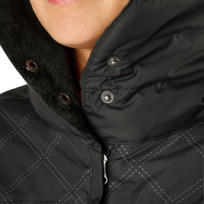 Veste chaude et imperméable femme équitation TOSCA 2 gris foncé/chevron - 1163823