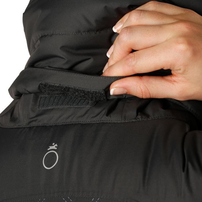 Veste chaude et imperméable femme équitation TOSCA 2 gris foncé/chevron - 1163824