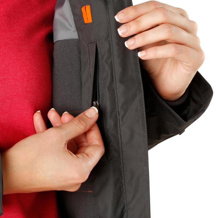Veste chaude et imperméable femme équitation TOSCA 2 gris foncé/chevron - 1163826
