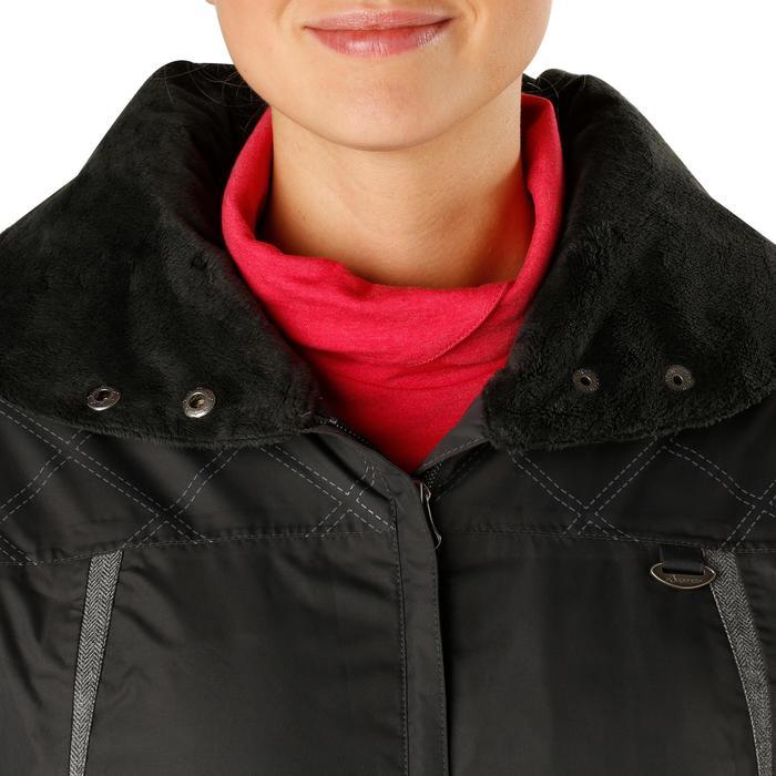 Veste chaude et imperméable femme équitation TOSCA 2 gris foncé/chevron - 1163828