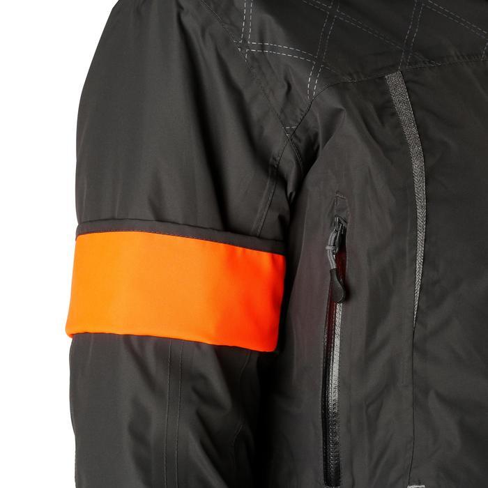 Veste chaude et imperméable femme équitation TOSCA 2 gris foncé/chevron - 1163831