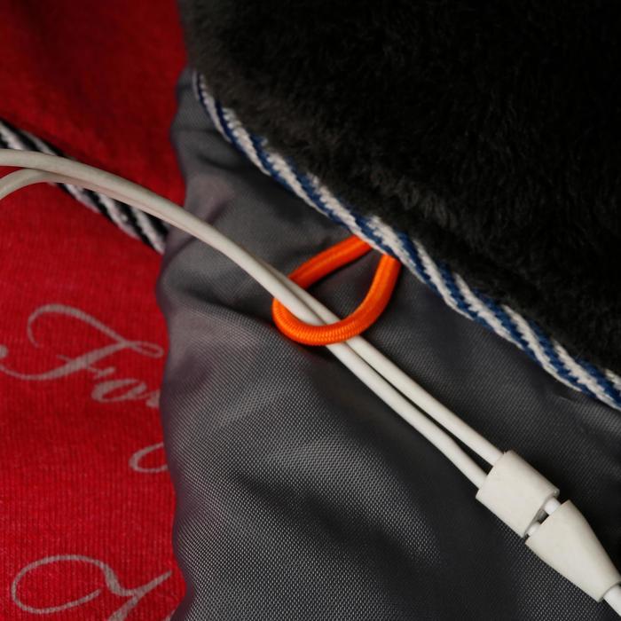 Warme en waterdichte damesjas Tosca voor ruitersport donkergrijs/visgraat