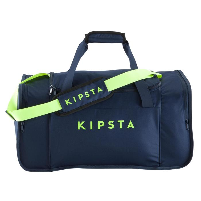 Teamsporttas Kipocket 60 liter blauw fluogeel