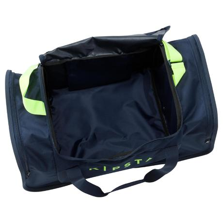 sac de sports collectifs kipocket 60 litres bleu jaune fluo kipsta by decathlon. Black Bedroom Furniture Sets. Home Design Ideas