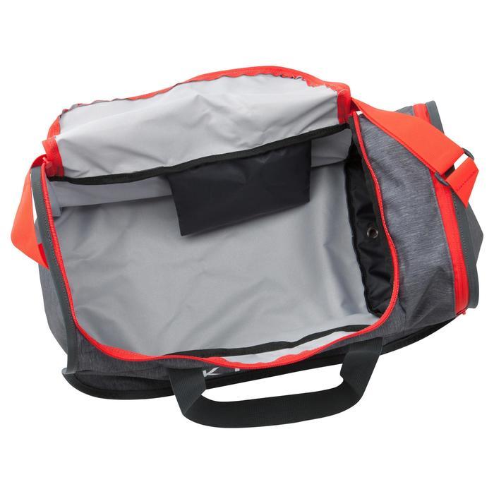 Bolsa de deportes colectivos Kipocket 40 litros gris rojo