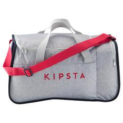 Bolsa de deportes colectivos Kipocket 40 litros gris rosa