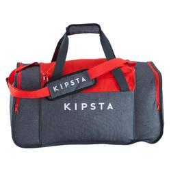 Bolsa de deportes colectivos Kipocket 60 litros gris rojo