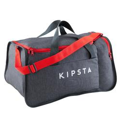 Teamsporttas Kipocket 40 liter grijs/rood