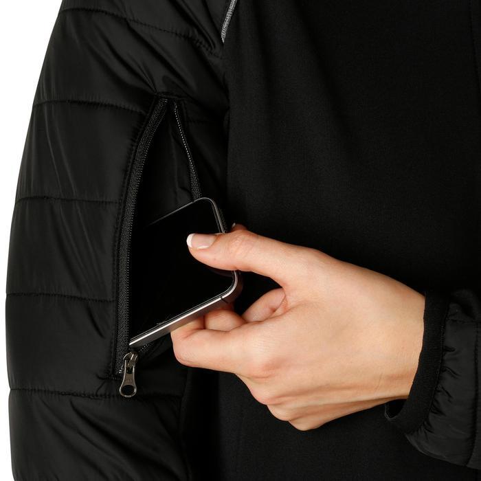 Damesjas in twee materialen ruitersport Safy zwart