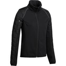 Damesjas Safy voor ruitersport in twee materialen zwart