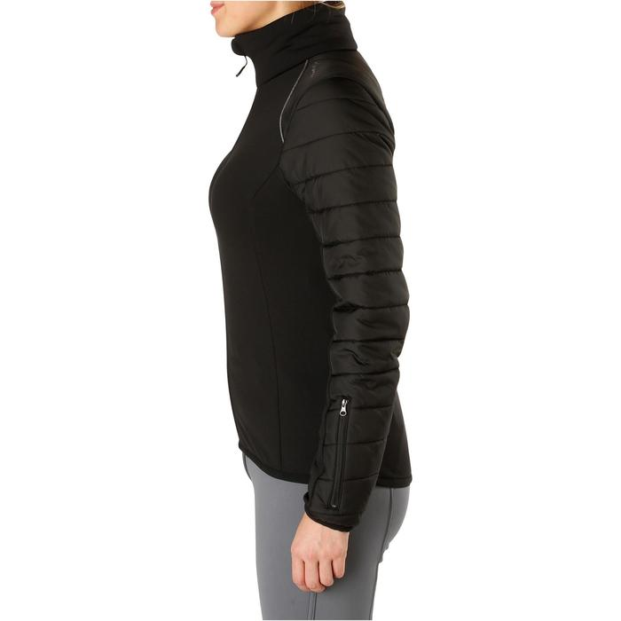 Veste bi-matière équitation femme SAFY noir