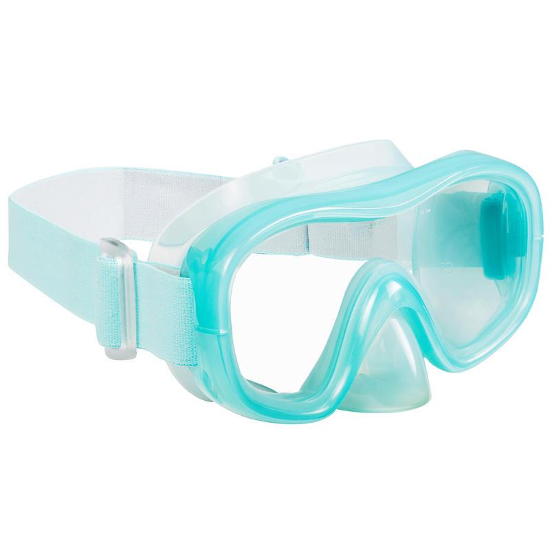 ชุดหน้ากากดำน้ำและท่อหายใจสำหรับผู้ใหญ่รุ่น SNK 520 (สีเขียวอ่อน/เทา)