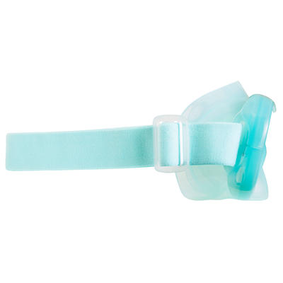 Masque d'apnée freediving FRD120 vert clair gris