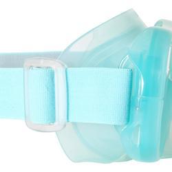 Snorkelset met duikbril en snorkel FRD120 volwassenenlichtgroen grijs