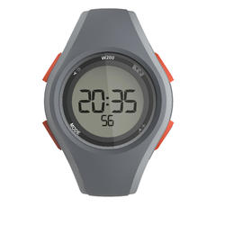 W200 M running stopwatch - grey and orange
