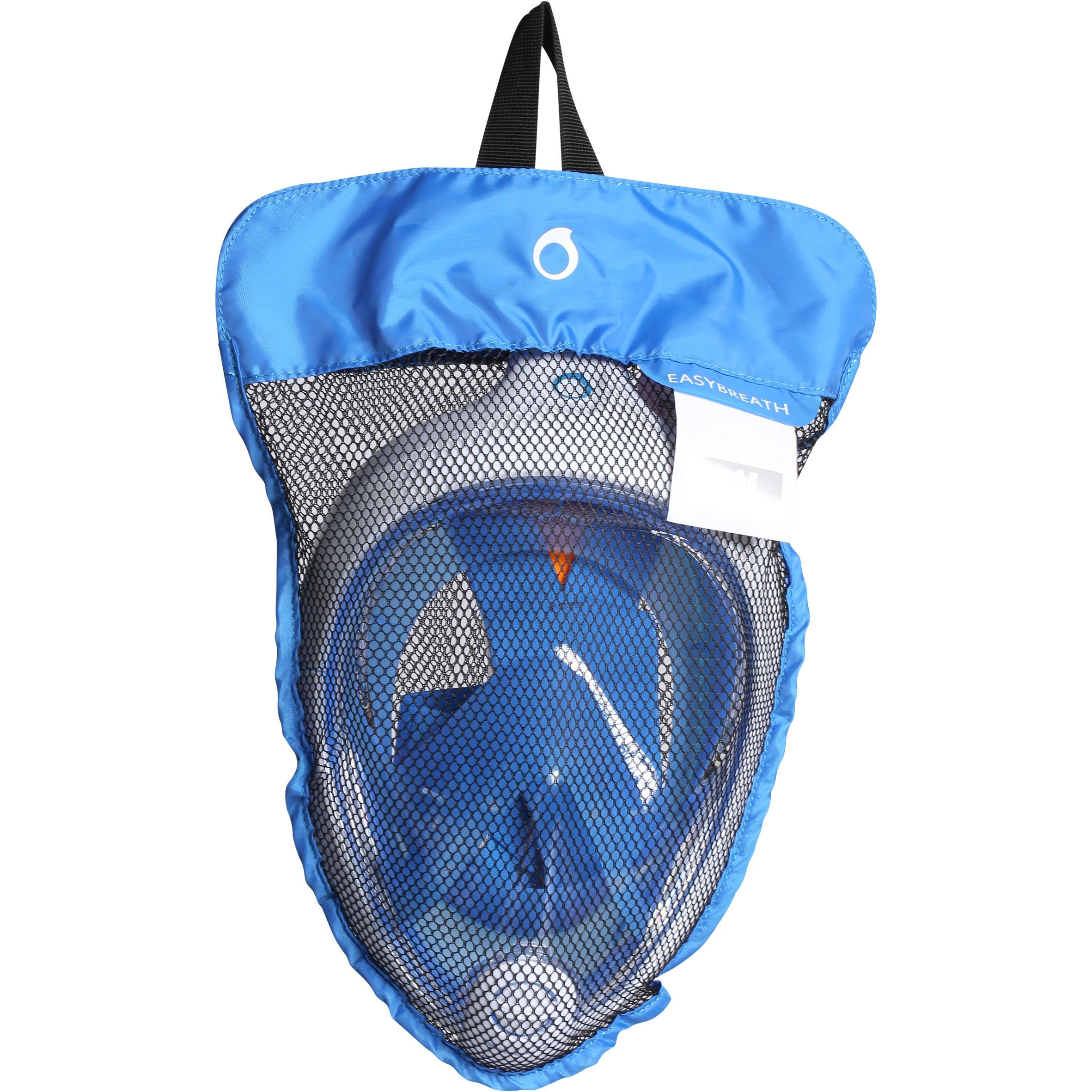 620076f4e Máscara de snorkeling Easybreath® Azul Blanco - Decathlon