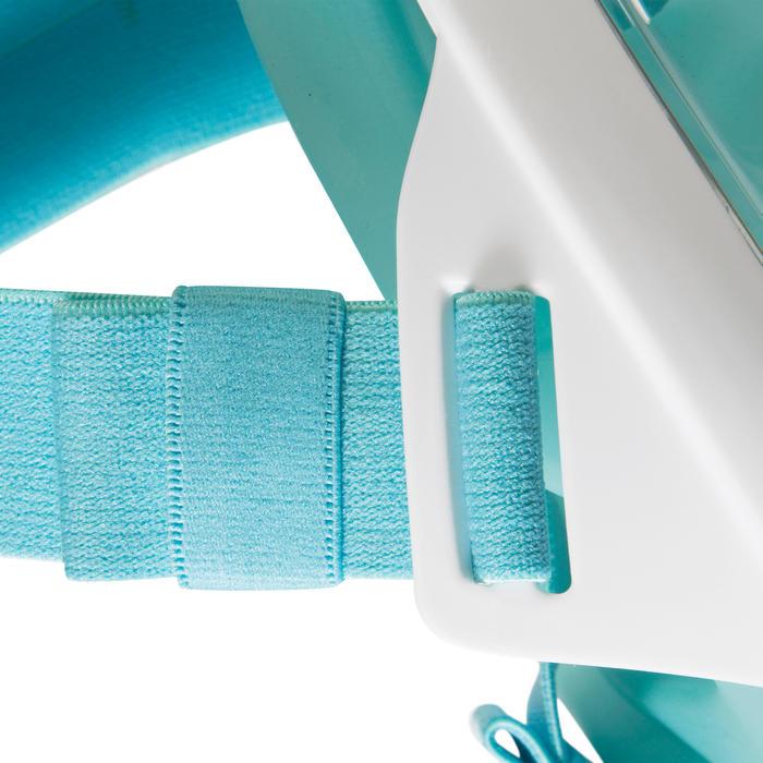 Máscara Snorkel Subea Easybreath Adulto Azul Turquesa