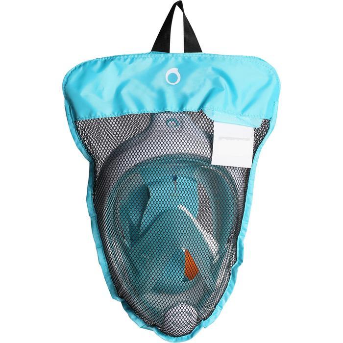 Snorkelmasker Easybreath laguneblauw (vanaf 10 jaar)