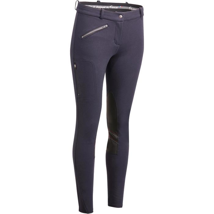 Pantalon chaud équitation femme VICTORIA bleu marine - 1164188