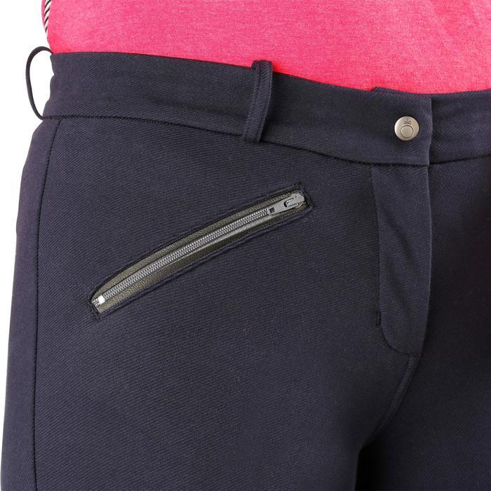 Pantalon chaud équitation femme VICTORIA bleu marine - 1164193