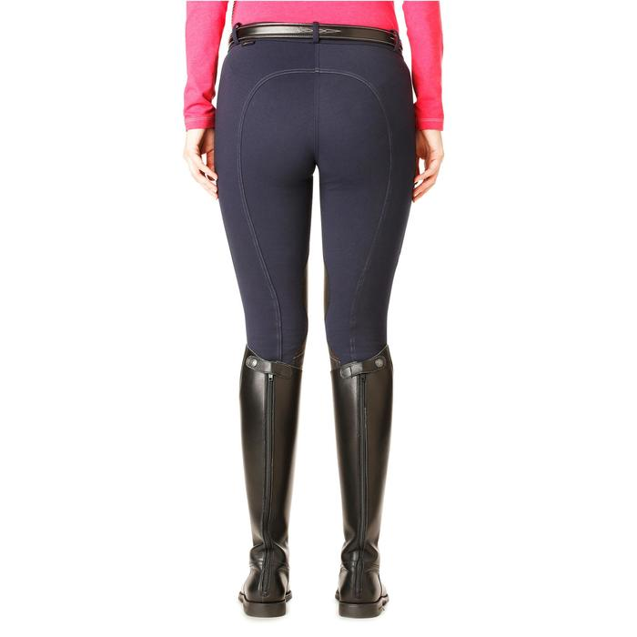 Pantalon chaud équitation femme VICTORIA bleu marine - 1164194