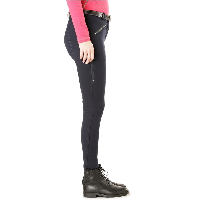 Pantalon chaud équitation femme VICTORIA bleu marine - 1164199